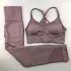 Taupe Energy Seamless Compression Activewear Set